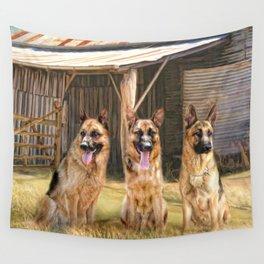 German Shepherds Wall Tapestry