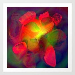 lluminated Pebbles Art Print