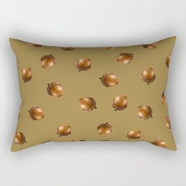Acorn Pattern-Luxor Gold Rectangular Pillow
