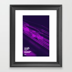 The Love Series 200 Purple Framed Art Print
