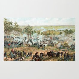 Battle Of Gettysburg -- American Civil War Rug