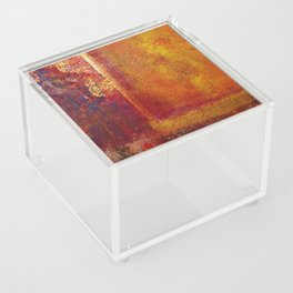 Abstract Art Color Fields Orange Red Yellow Gold Acrylic Box