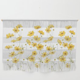 Yellow Cosmos Flowers Wall Hanging