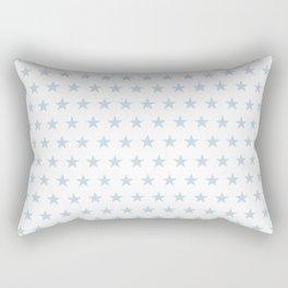 Dove gray stars on white pattern Rectangular Pillow