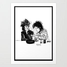Blixa Bargeld and Nick Cave Art Print