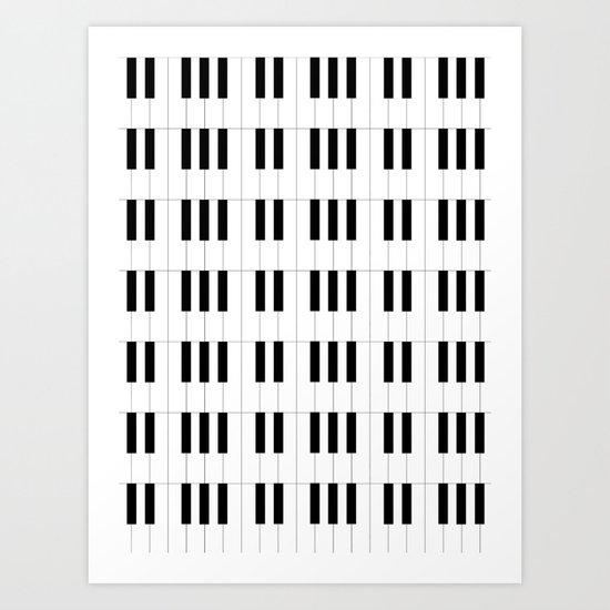 Piano Key Stripes by queenielamb