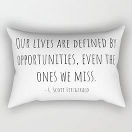 Opportunities - F. Scott Fitzgerald Rectangular Pillow