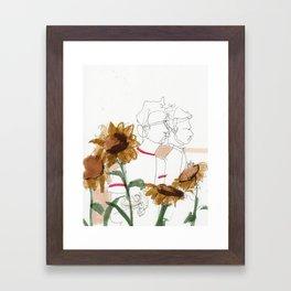 late summer / the things i kept inside Framed Art Print