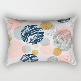 Pattern circles abstract shapes and textures Rectangular Pillow