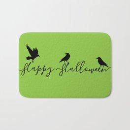 Happy Halloween Ravens - green/black Bath Mat