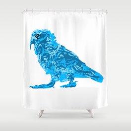 Kea Strut - Blues Shower Curtain