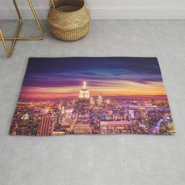 New York City Dusk Sunset Rug