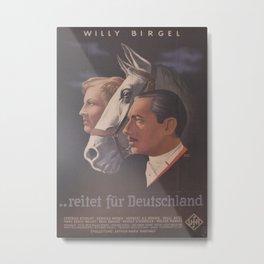 Vintage German Movie Poster  Metal Print