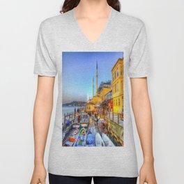 Picturesque Istanbul Unisex V-Neck