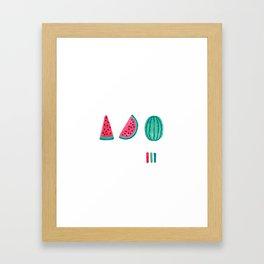Watermelon Sequence Framed Art Print