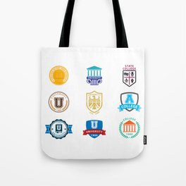 Colleges And Universities Tote Bag