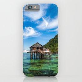 Bajau Laut Stilt Village iPhone Case