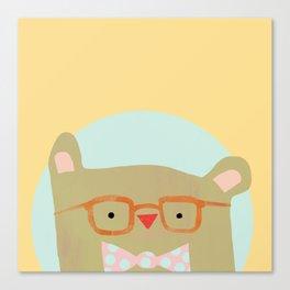 Bear in Specs Canvas Print