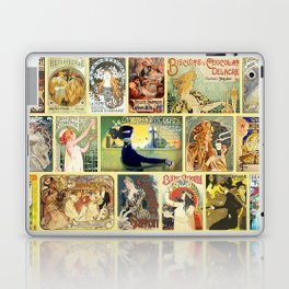 Art Nouveau Advertisements Collage Laptop & iPad Skin