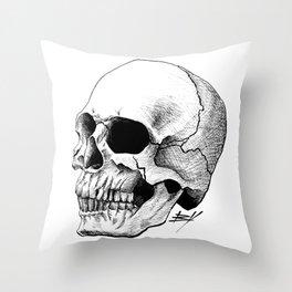 Dire Skull - A Macabre Warning Throw Pillow