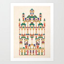 Block Façade Art Print