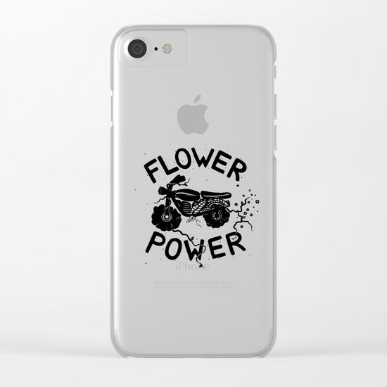 Floral Fuel Clear iPhone Case