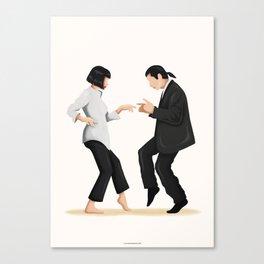 Pulp Fiction Twist Dance Canvas Print