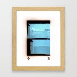 Paradise Cove 1974 Light Blue Framed Art Print