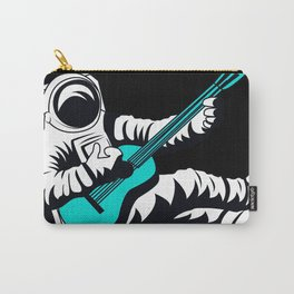 Space Astronaut Playing Blue Guitar Music Art Design Decor Gift Funny Carry-All Pouch