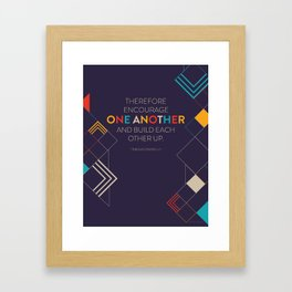 One Another Scripture Poster (1 Thessalonians) Framed Art Print