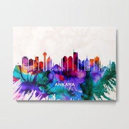 Ankara Skyline Metal Print