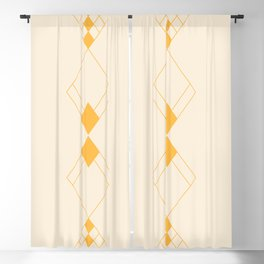 Minimal Geometry - Golden Blackout Curtain