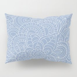 Background abstract flowers, doodleart, graphic-desing vector pattern. Pillow Sham