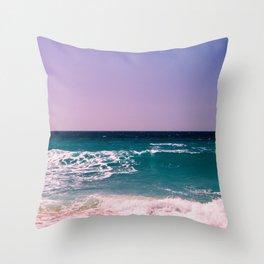 Azure Waves Throw Pillow