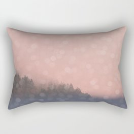 Frosty Morn, Forest Landscape Sparkles Rectangular Pillow