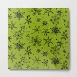 Snow Flakes 10 Metal Print