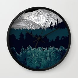 Under the Mountain  Wall Clock