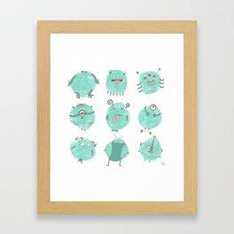 The germ jerks Framed Art Print
