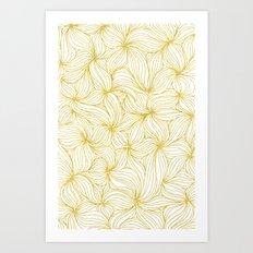 Golden Doodle floral Art Print