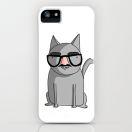 Cat with Groucho Glasses iPhone Case