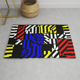 Best Abstract Art (Colored Squares Pattern) Rug