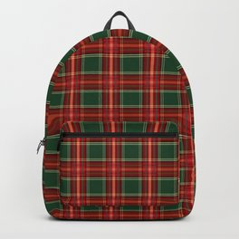 Christmas Plaid Pattern in Red and Green Backpack