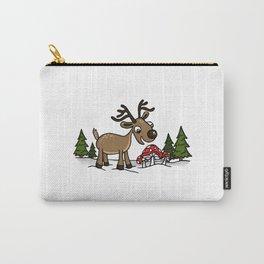 Reindeer Munches a Cap Carry-All Pouch