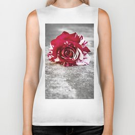 Variegated Rose on Concrete Biker Tank