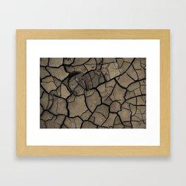 Cracked Earth Framed Art Print