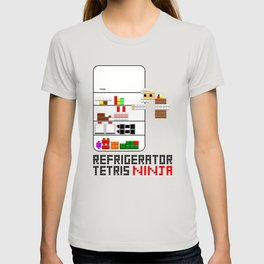 Refrigerator tetris ninja - light T-shirt