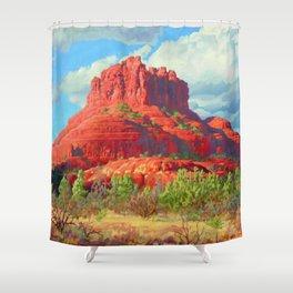 Big Bell Rock Sedona by Amanda Martinson Shower Curtain