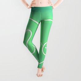 Love Neon Sign Green Leggings