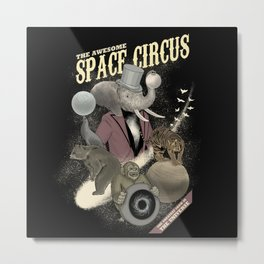 The awesome space circus Metal Print