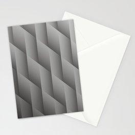 Pantone Pewter Gray Gradient Diamonds, Ombre Geometric Shape Pattern Stationery Cards